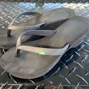 Sanuk flip flops wedge 6